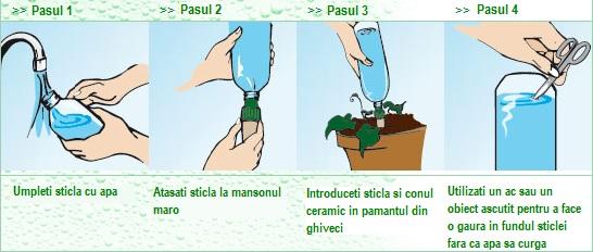 Utilizare adaptor sticla Blumat