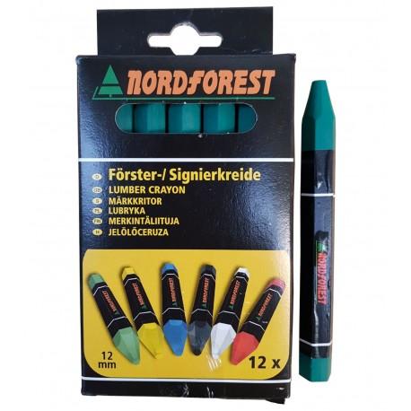 Creta forestiera Nordforest Verde - cutie 12 buc