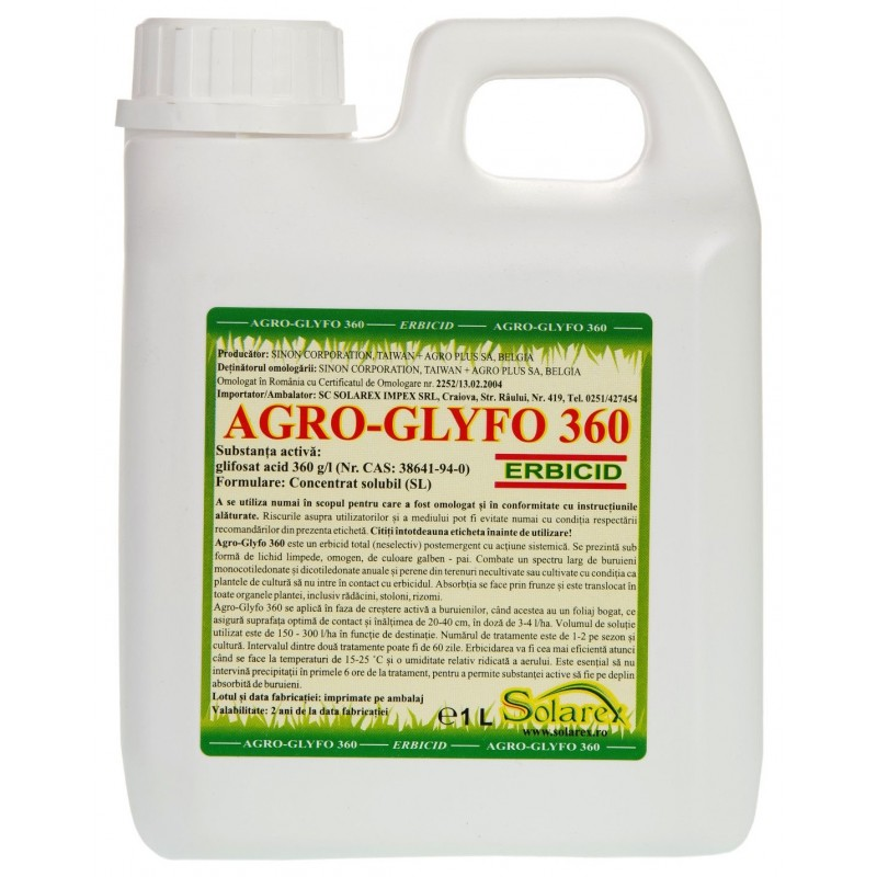 Erbicid total Agro Glyfo Green 1 L