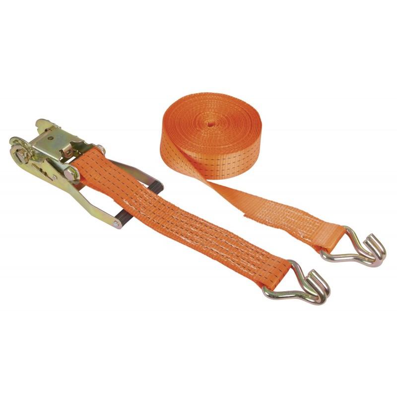 Chinga ancorare Kerbl cu clichet 10 m × 50 mm - portocaliu