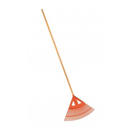 Grebla din plastic Stocker pentru gazon - frunze cu coada (182 cm)