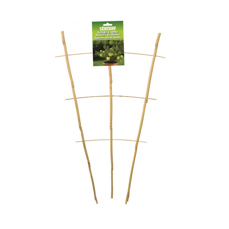 Spalier din bambus pentru plante la ghiveci (28 x 60 cm)