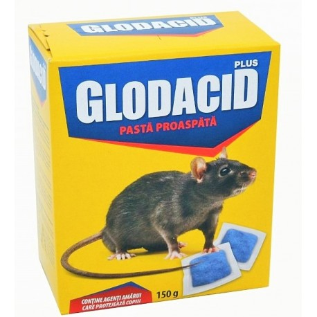 Raticid pasta Glodacid Plus - 150 gr.