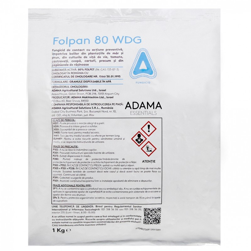 Fungicid Folpan - 1 kg.
