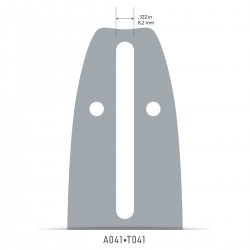 Sina Oregon O084MLEA041 - 20 cm (8'') 3/8'' 1,1 mm Single Rivet