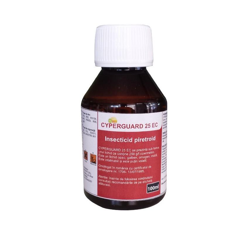 Insecticid piretroid Cyperguard 25 EC - 100 ml.