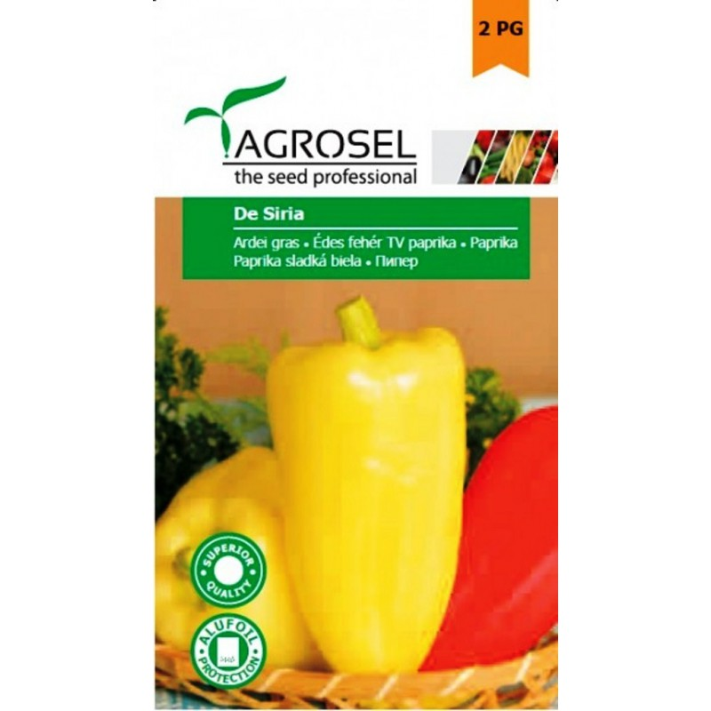 Seminte ardei gras De Siria - 1 gr.