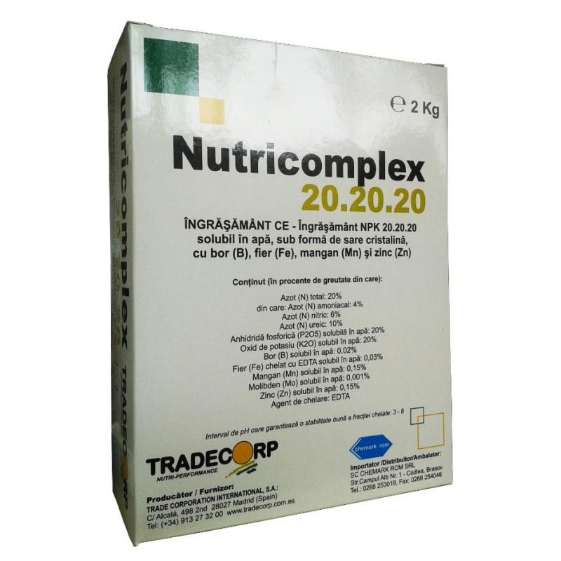 Ingrasamant Nutricomplex NPK 20-20-20 - 2 kg.