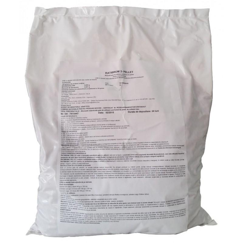 Raticid Ratibrom 2 Pellet 5 kg.
