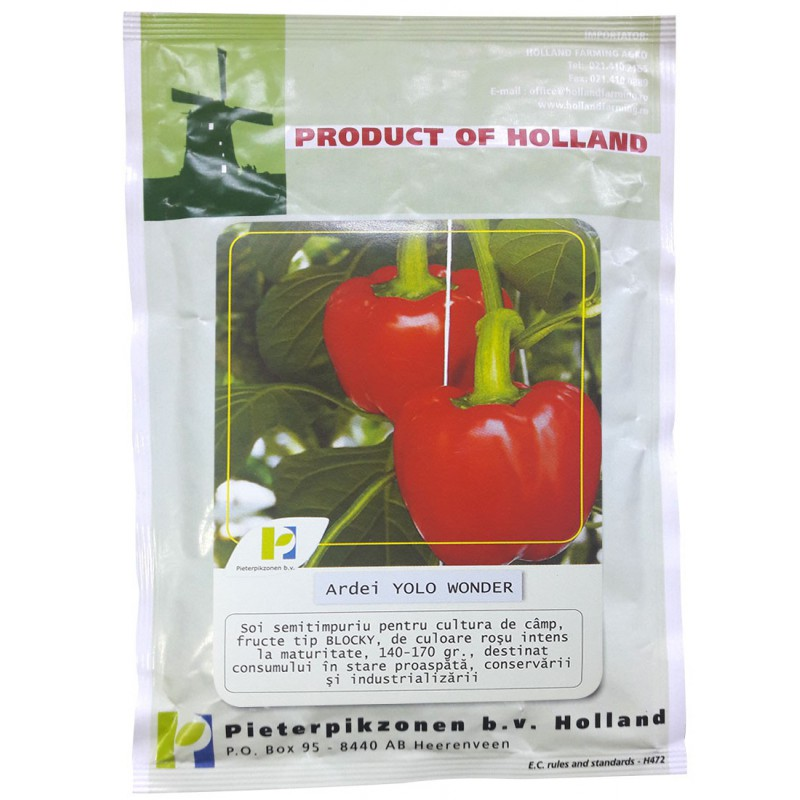 Seminte ardei gras Yolo Wonder PPZ Olanda - 10 gr.