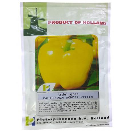 Seminte ardei gras California Wonder PPZ Olanda - 10 gr.