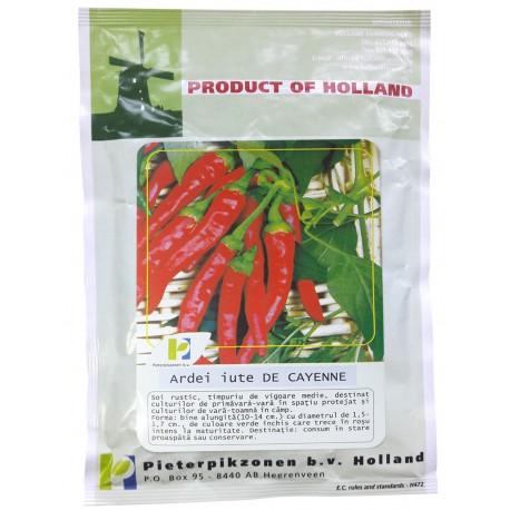 Seminte ardei iute De Cayenne PPZ Olanda - 10 gr.