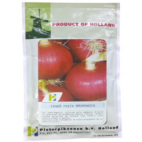 Seminte ceapa rosie Brunswick PPZ Olanda - 25 gr.