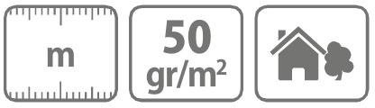 Caracteristici Folie microporoasa neagra pentru mulcire 50 mg