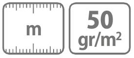Caracteristici Folie microporoasa neagra pentru mulcire 50 gr Protex