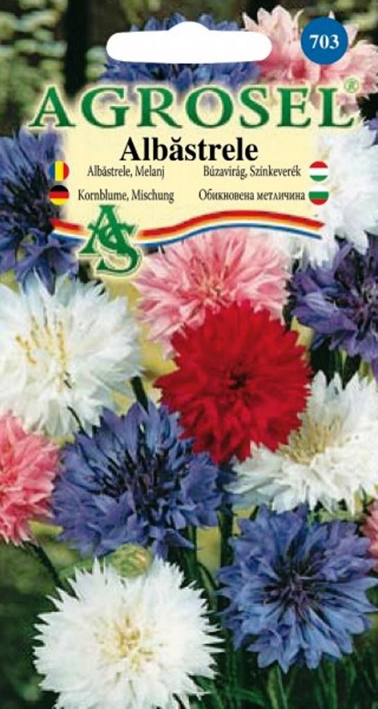 Seminte flori Albastrele melanj Agrosel - Verdon