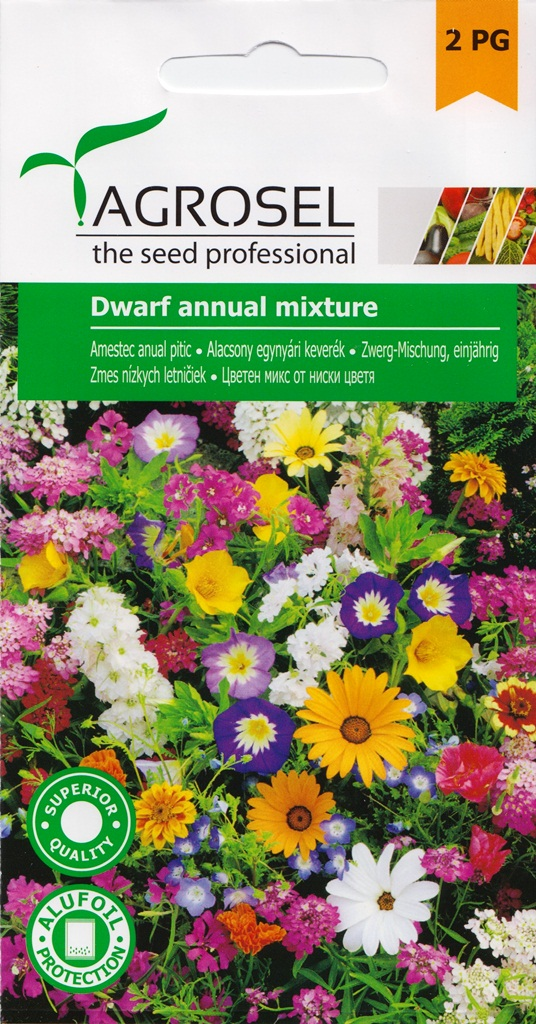 Seminte flori amestec anual pitic Agrosel - Verdon