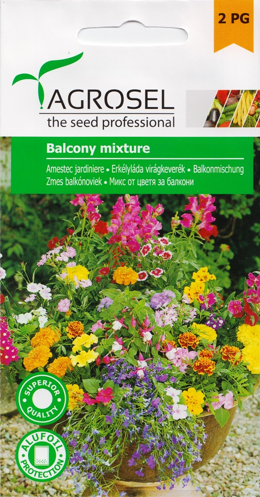 Seminte flori amestec jardiniere Agrosel - Verdon