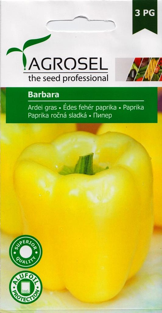 Seminte ardei gras Barbara - Agrosel