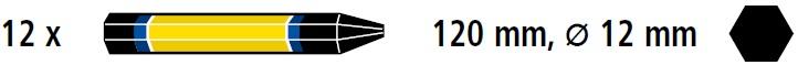 Creta forestiera Bleispitz neagra cutie 12 buc