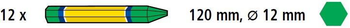 Creta forestiera Bleispitz verde cutie 12 buc Verdon