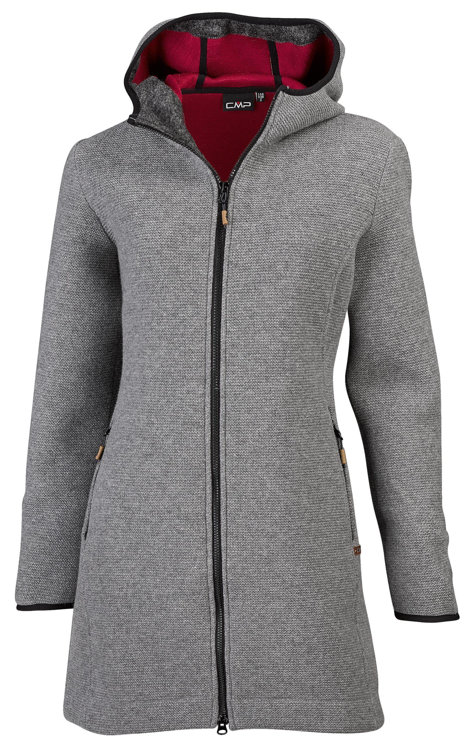 Palton dama lana CMP - fumo melange