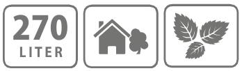 Caracteristici Sac pentru gradina Stocker 270 l