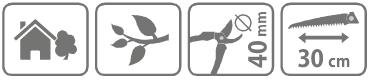 Caracteristici cleste de taiat crengi tip bypass cu ferastrau 30 cm