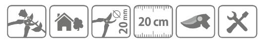 Caracteristici foarfeca taie-prinde Stocker 20 cm