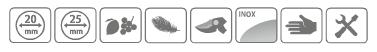 Caracteristici foarfeca din otel inoxidabil Stocker cu maner tip inel 25 mm, cu lama lunga de 35 mm