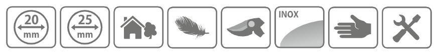 Caracteristici foarfeca din otel inoxidabil Stocker cu maner tip inel 20 mm, cu lama lunga de 55 mm