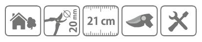 Caracteristici foarfeca universala Stocker 20 cm