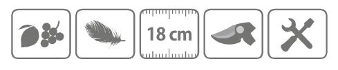 Caracteristici foarfeca profesionala pentru recoltare cu lama curbata 18 cm