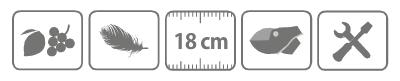 Caracteristici foarfeca profesionala pentru recoltat Stocker lama curbata 18 cm