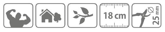 Caracteristici foarfeca cu clichet pentru taiere 18 cm