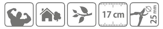 Caracteristici foarfeca cu clichet pentru taiere 17 cm
