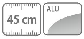 Caracteristici lance-dus din aluminiu 45 cm