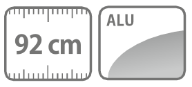 Caracteristici lance din aluminiu 92 cm