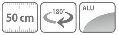 Caracteristici lance cu diuza din aluminiu 50 cm
