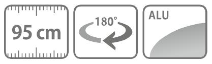 Caracteristici lance-dus cu diuza din aluminiu 95 cm