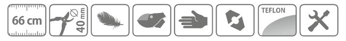 Caracteristici clesti hobby pentru taiat crengi, tip nicovala, cu lama curbata, 66 cm