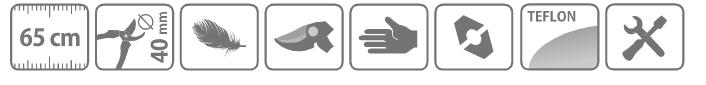 Caracteristici cleste hobby tip bypass pentru taiat crengi, cu maner din aluminiu, 65 cm