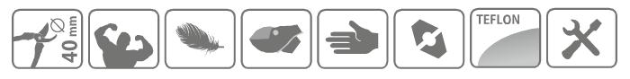 Caracteristici cleste pentru taiat crengi tip nicovala Amboss 72