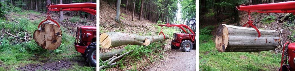 Graifer forestier mecanic - 2000 kg