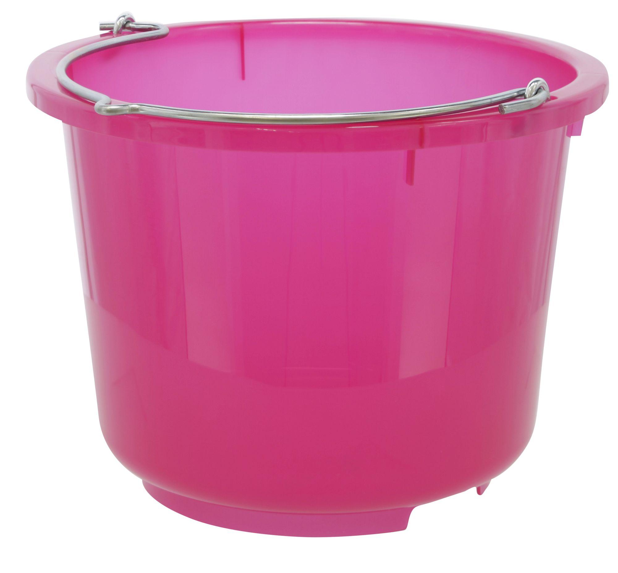 Galeata de grajd si constructii 12 litri - roz transparent