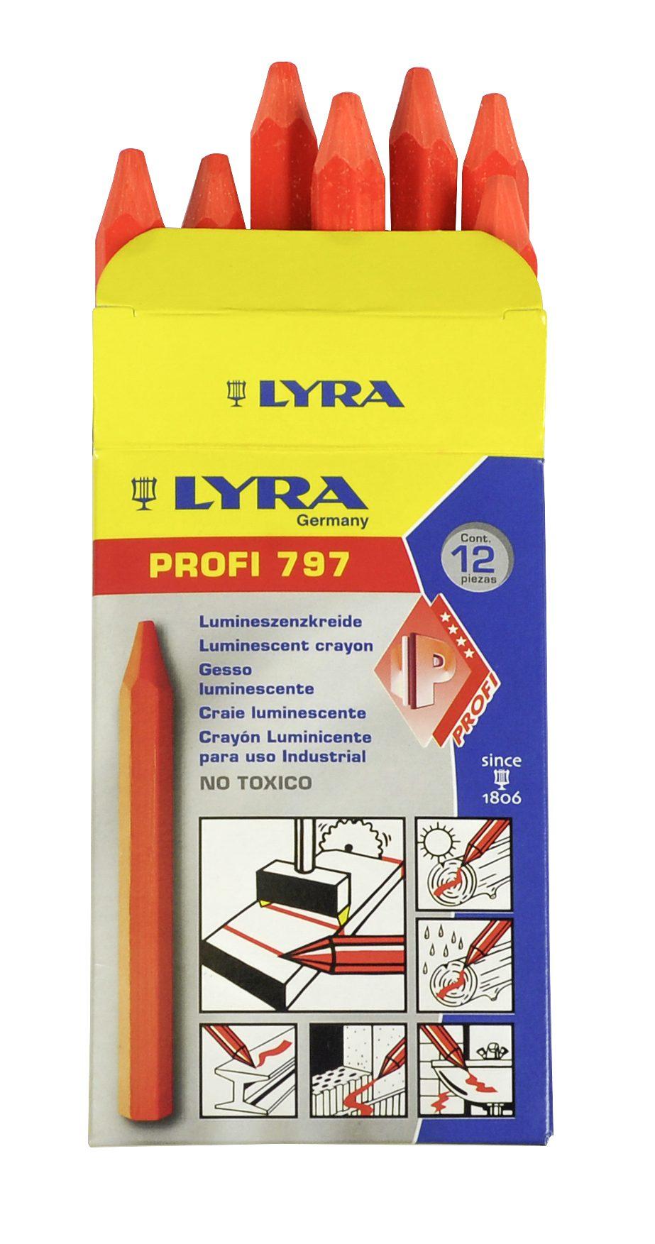 Creta Lyra 797 portocaliu fluorescent