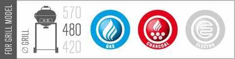 Compatibilitate masa laterala grill Outdoorchef - Verdon