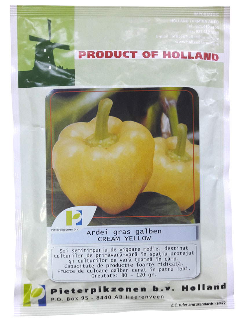 Verdon - Seminte ardei gras Cream Yellow PPZ Olanda