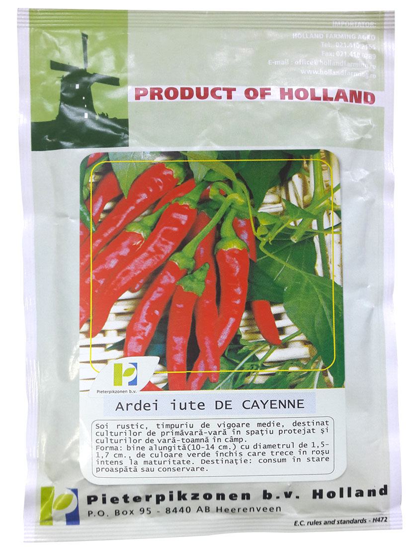 Verdon - Seminte ardei iute De Cayenne PPZ Olanda
