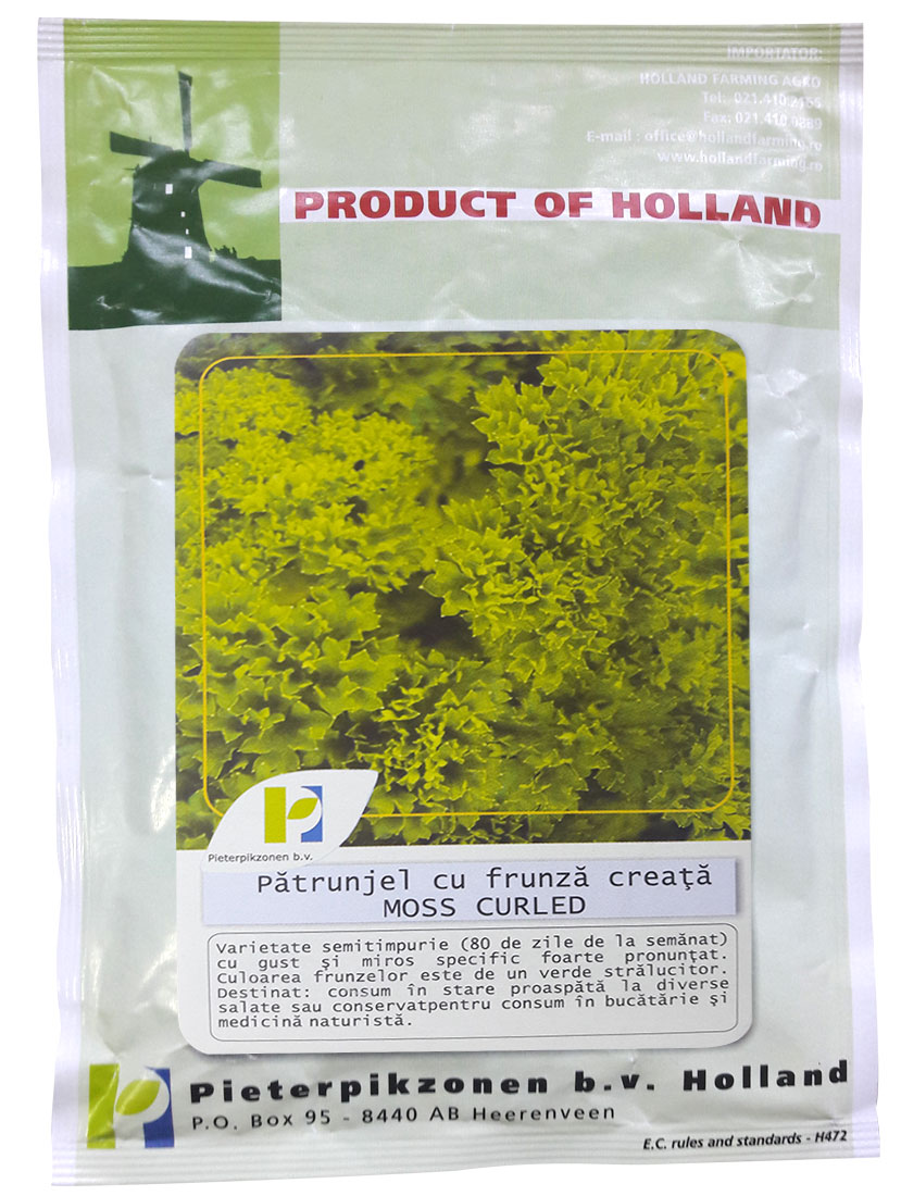 Verdon - Seminte patrunjel cu frunza creata Moss Curled PPZ Olanda